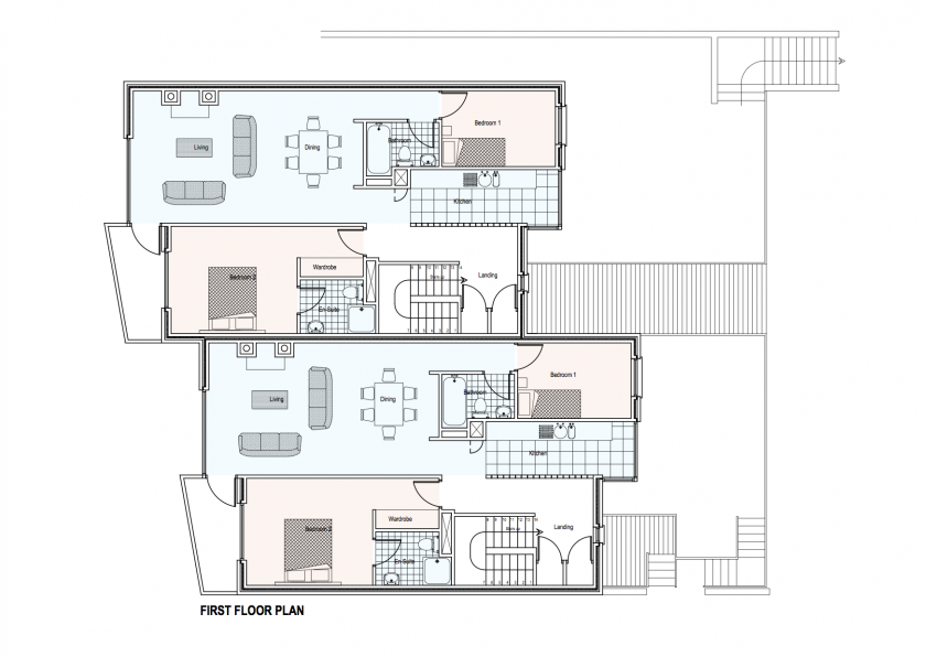 Ard Na Gceapairi Apartments First Floor Plan