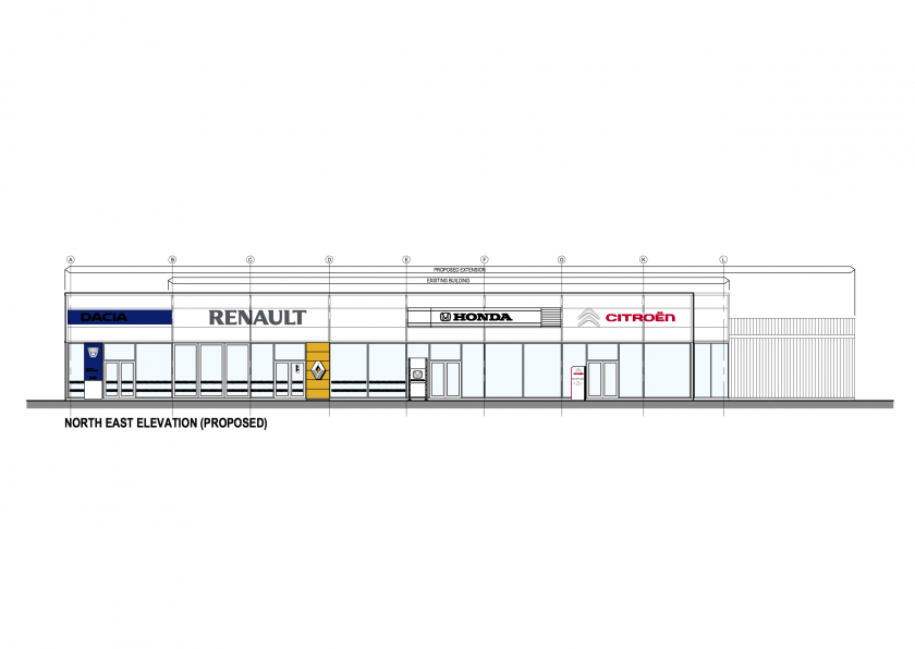 Highland Motors Renault North East Elevations